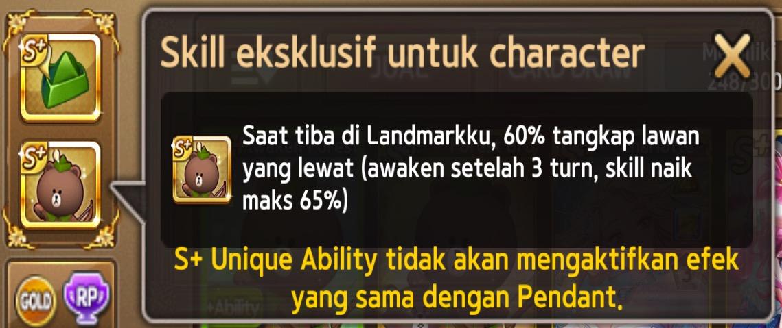 skill ekslusif 2 awaken forest brown s+